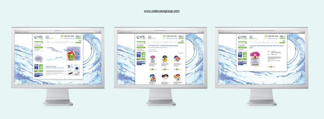E-Commerce Websites for Wide Wave Group